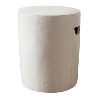 Modern White Ceramic Stool