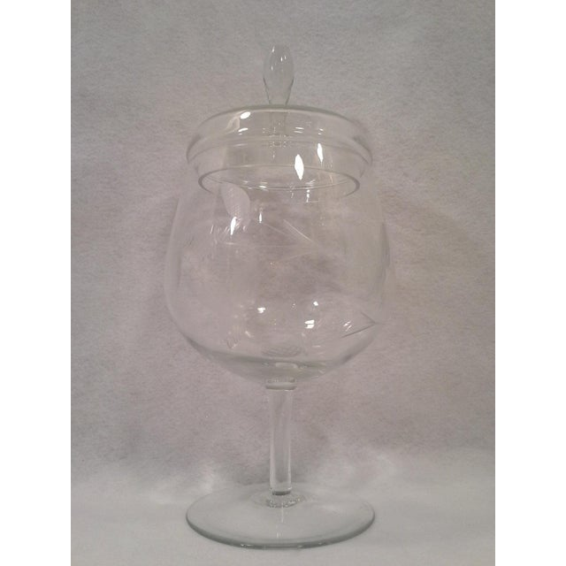 Crystal Apothecary-Style Jar with Strawberry Motif - Image 2 of 4
