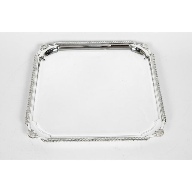 English Silver Plate Barware / Serving Footed Tray For Sale In New York - Image 6 of 11