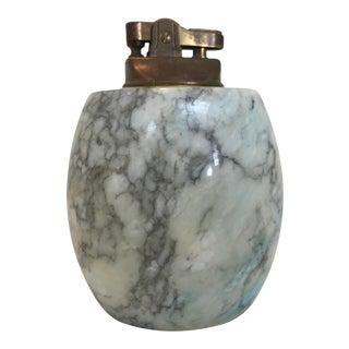1960s Vintage Marbled Alabaster Tabletop Lighter For Sale