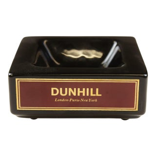 Dunhill Square Black Ashtray For Sale