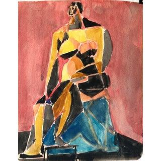 "1950s ""Yellow Cubist Figure"" Ralph Dubin For Sale"