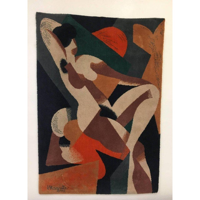 1950s Wool Scandinavian Rug or Tapestry in the Style of René Magritte For Sale - Image 5 of 6