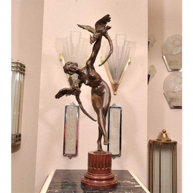 Gold Art Deco Bronze Figure by Claire Jeanne Roberte Colinet For Sale - Image 8 of 8