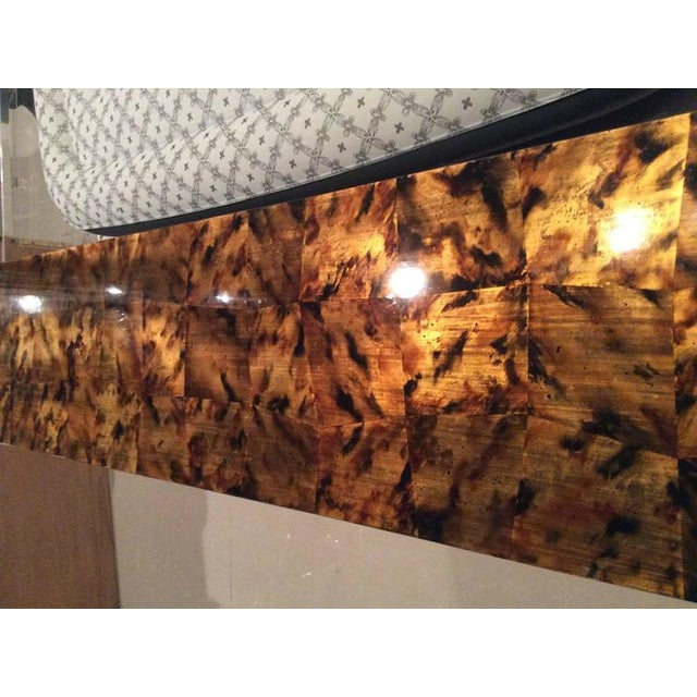 Mid-Century Modern Brass Tortoise Shell Sideboard For Sale - Image 5 of 12