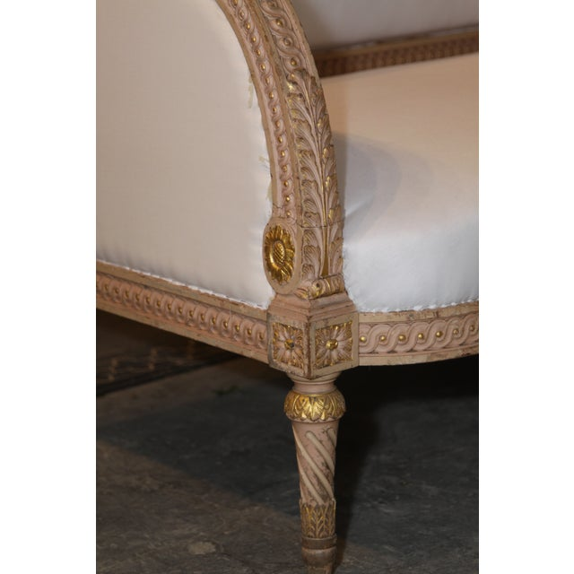 Fabric 1890 Antique French Grande Settee For Sale - Image 7 of 9