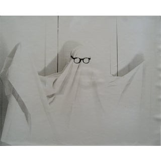 Ghost in Glasses 1960s Black and White Photograph For Sale