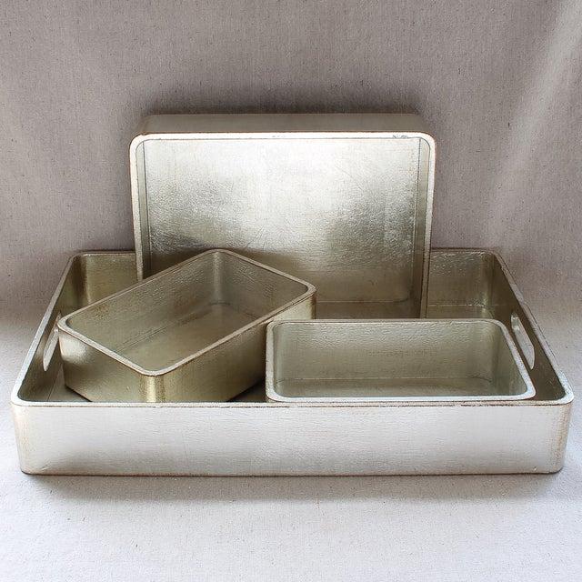 4-Piece Florentine Silver-Gilt Nesting Trays - Image 2 of 11