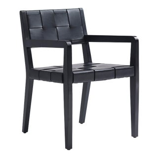 Ralph Lauren New Safari Woven Leather Dining Chair For Sale