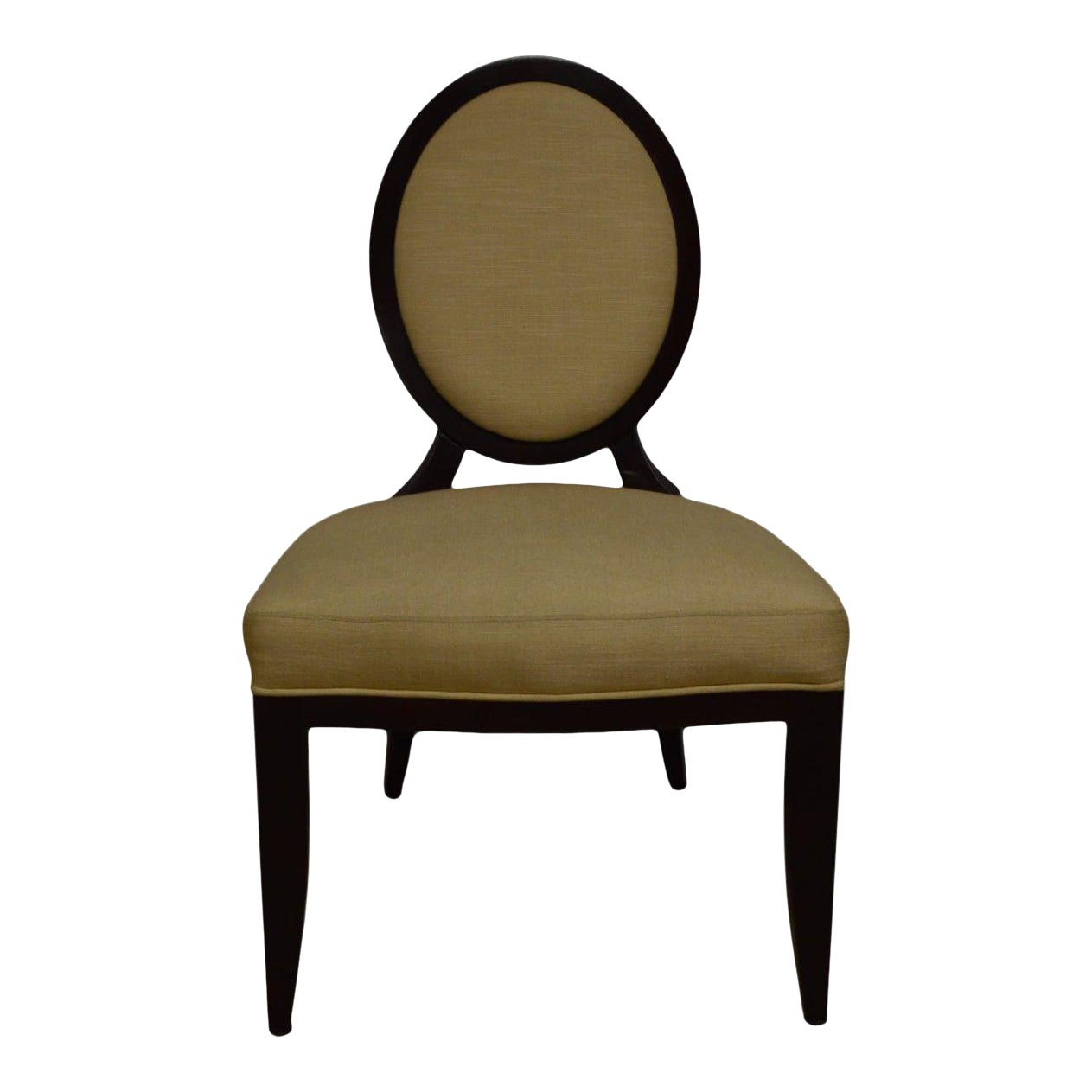 Barbara Barry For Baker Oval X Back Side Chair Chairish