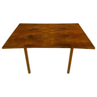 Rare Harold M Schwartz for Romweber Burled Walnut Parabolic Form Dining Table For Sale