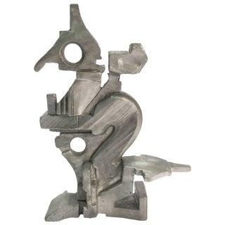 Cast Aluminum Sculpture by Artist Michael Wlash For Sale
