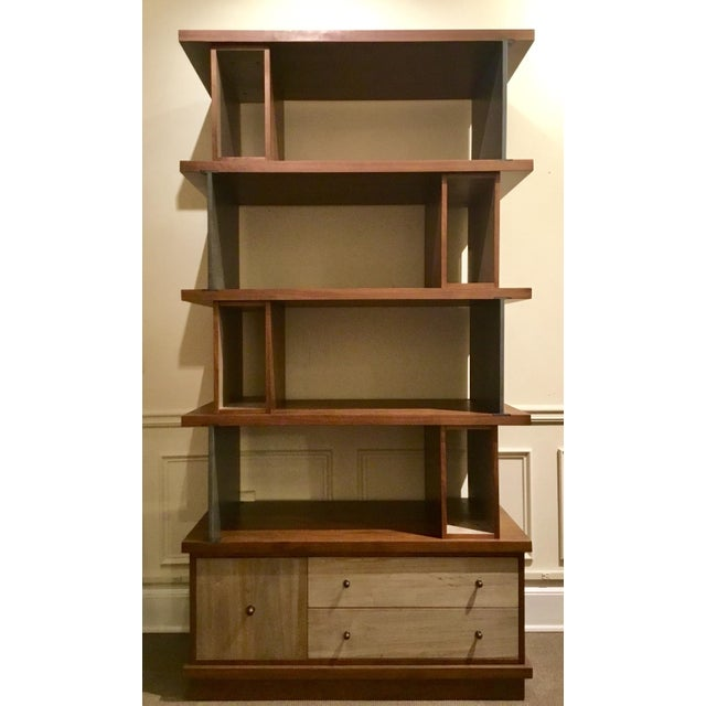 Brown Ad Modern Industrial Modern Metal and Wood Epoque Bookcase For Sale - Image 8 of 8