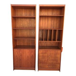 Danish Modern Teak Bookshelf-A Pair For Sale