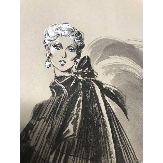 Robert W. Richards for Cardinali Original Fashion Sketch - Image 3 of 9
