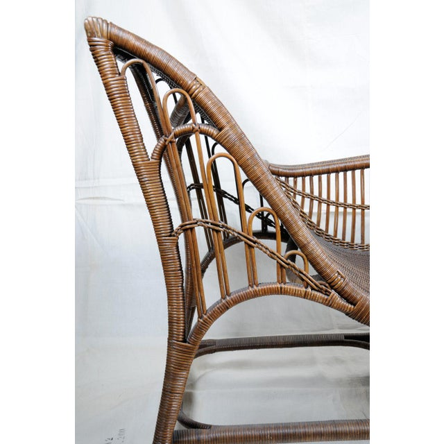 Art Deco Harry Peach Company Drayad Registered Wicker Chaise, Accent Piece, Lounge, Room Accessory For Sale - Image 3 of 8