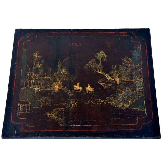 Mid 19th Century Small Asian Lacquer Side Table For Sale - Image 5 of 6