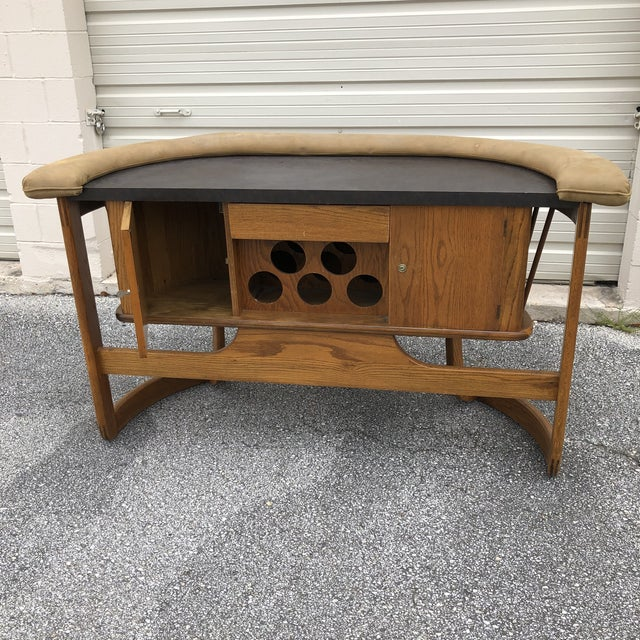 Danish Mid Century Modern Oak Bar For Sale In San Antonio - Image 6 of 13
