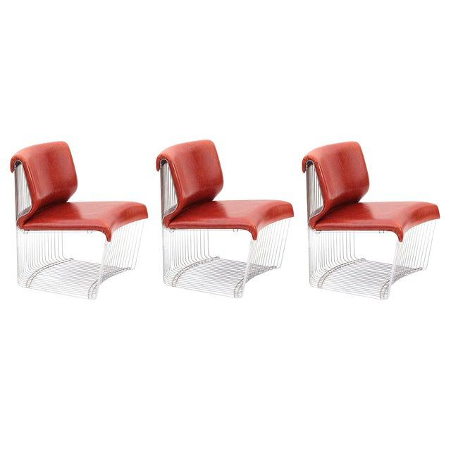 Verner Panton for Fritz Hansen Pantonova chairs, circa early 1970s. These sculptural examples can be used as individual...