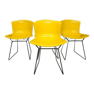 1950s Vintage Harry Bertoia for Knoll Molded Fiberglass Chairs - Set of 3 For Sale
