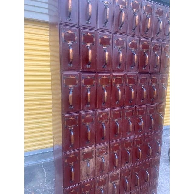 Vintage Industrial File Cabinet For Sale - Image 11 of 13