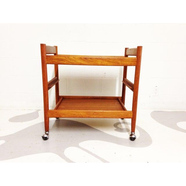 Mid-Century Teak Bar Cart - Image 6 of 7