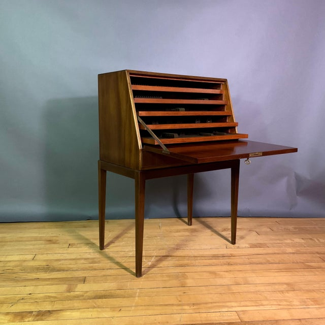Fritz Henningsen Mahogany Silverware Flip-Down Cabinet, 1970s For Sale - Image 9 of 9