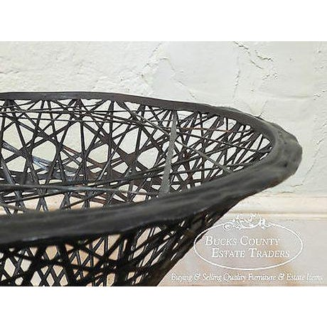 Russell Woodard Vintage Spun Fiberglass Patio Side Table W/ Round Glass Top For Sale - Image 12 of 13