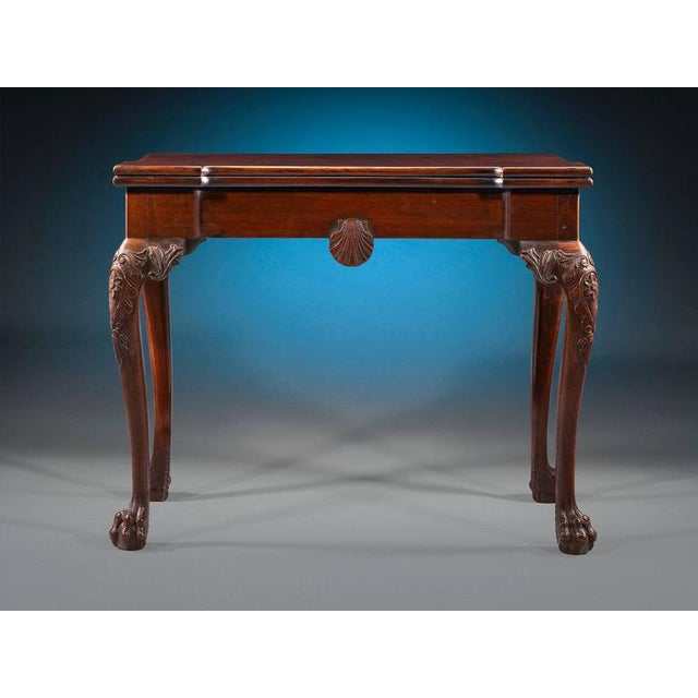 This exceptional Irish games table is as functional as it is beautiful. Crafted of Cuban mahogany, it serves as a console...