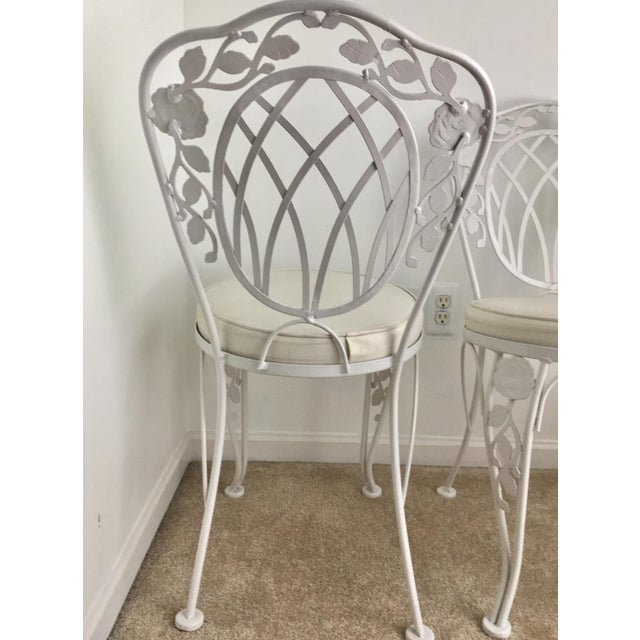 Mid-Century Modern Vintage Meadowcraft Bistro Chairs - a Pair For Sale - Image 3 of 8