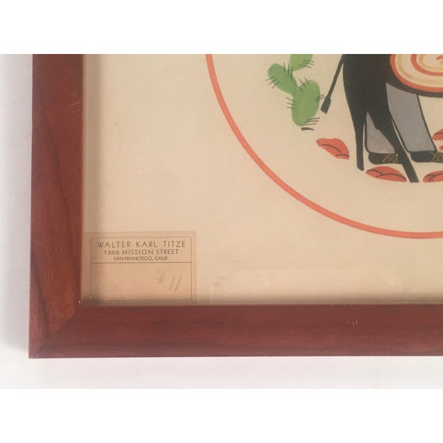 1940s Walter Karl Titze Drawing for a Dinner Plate For Sale - Image 5 of 10