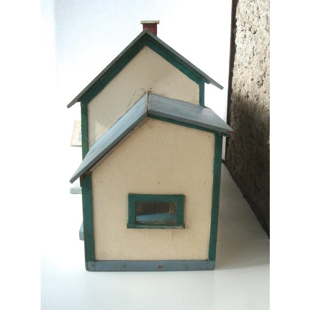 Green 1920s Handmade American Folk Art House Maquette For Sale - Image 8 of 9
