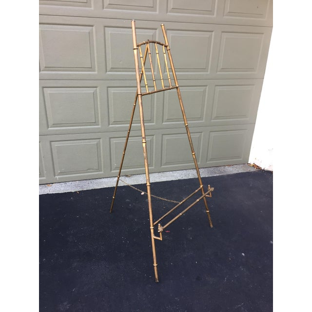 Great looking vintage easel. Perfect way to display art or a beautiful mirror, this very large easel would also be...