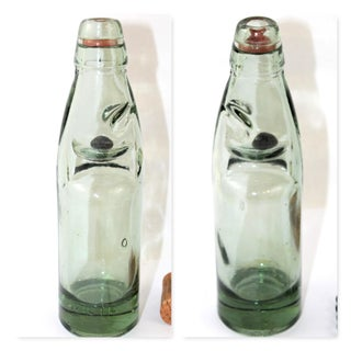 Antique English Codd Bottle With Codd Bottle Opener, Corkscrew - a Pair Preview