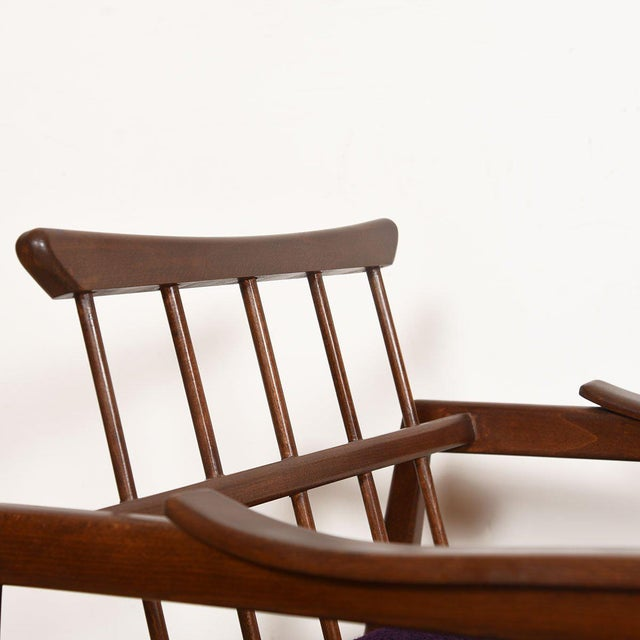 Edmond Spence Mid-Century Modern Walnut Club Chairs - a Pair For Sale - Image 9 of 13
