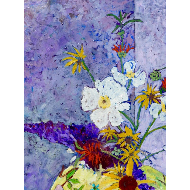 Wildflowers - Large Oil Painting by Martha Holden For Sale - Image 9 of 10