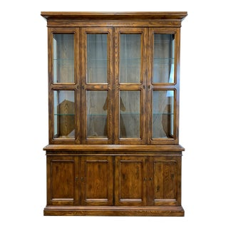 Henredon Artefacts Campaign Style China Cabinet For Sale