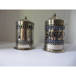 Vintage Silver-Plate Canisters- A Pair Preview
