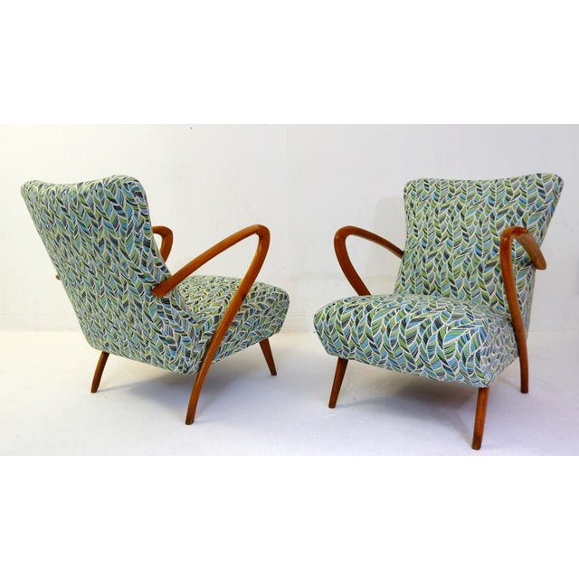 Pair of Guglielmo Ulrich Armchairs, Italy 1950 - New Upholstery For Sale - Image 9 of 9