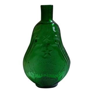 Vintage Clevenger Green Glass 'Spearmint' Bottle For Sale
