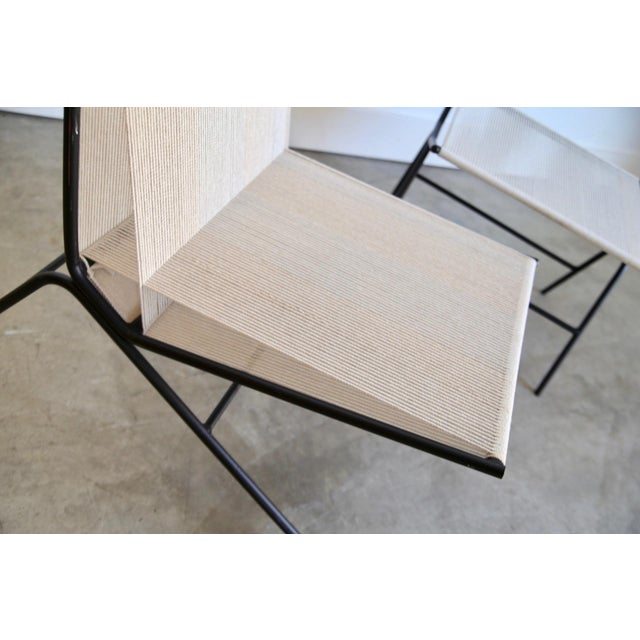Allan Gould String Chair & Ottoman For Sale - Image 10 of 11