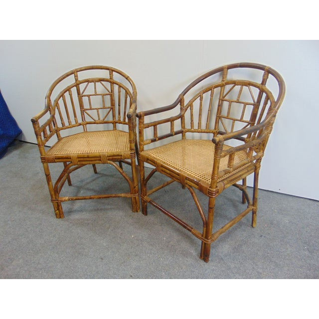 Wood Mid Century Chinoiserie Bamboo Chairs - a Pair For Sale - Image 7 of 7