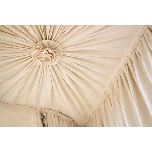 Fabric Italian Giltwood Bed Corona W/ Draperies For Sale - Image 7 of 12