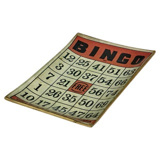 1950's Bingo Bar Game Tray For Sale
