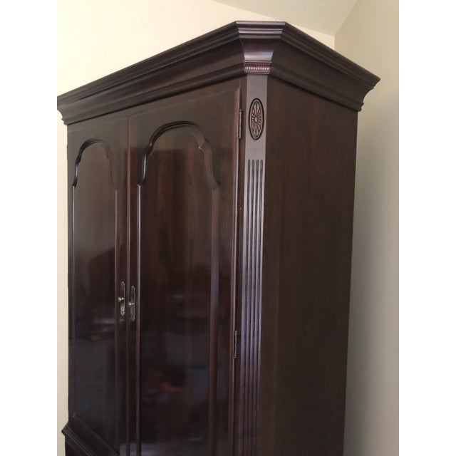Oxblood Red Traditional Ethan Allen Georgian Court For Sale - Image 8 of 9