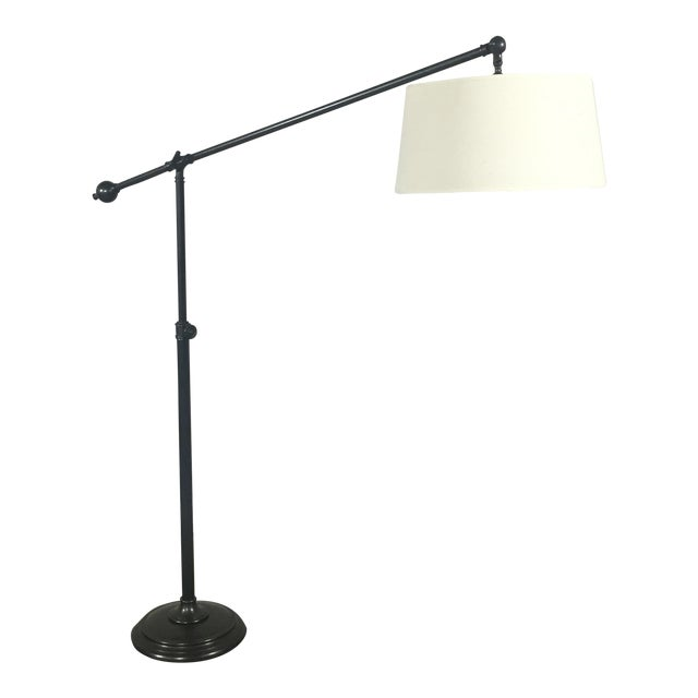 Pottery Barn Polished Brass Floor Lamp - Image 1 of 8