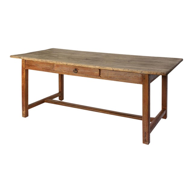 Faux-Grain Painted French Farm Table For Sale