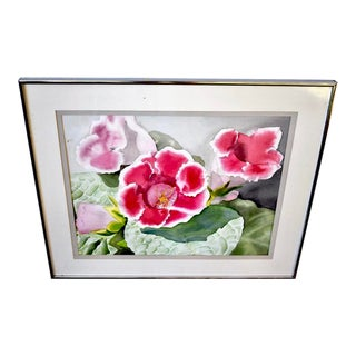 """""""Gloxinia"""" Original Watercolor Painting by I.Wolf For Sale"""