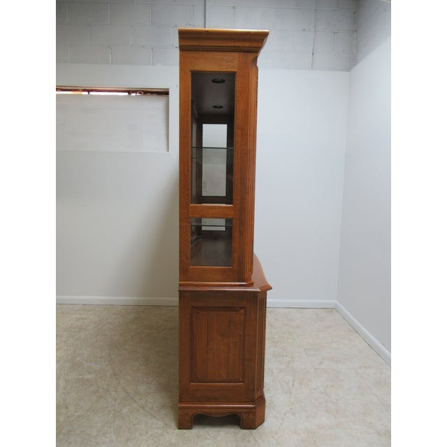 1990s Ethan Allen Legacy French County Server China Cabinet For Sale - Image 5 of 13