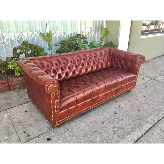 Vintage Chesterfield Leather Sofa - Image 3 of 5